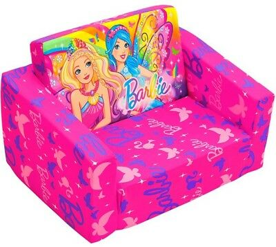 S Barbie Kids Flip Out Sofa Flipout Chair Day Bed Sleepover