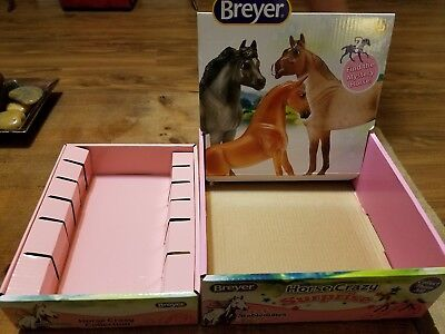 Breyer Horse Crazy Collection Display Boxes Set of 2 Stablemates Surprise L@@K