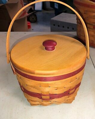1994 Longaberger Jingle Bell Christmas Basket With Lid  & Protector