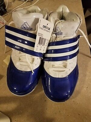 f6def54ab3ec ADIDAS WOMEN S TS Ace Commander Team Blue and White Basketball Shoes ...