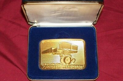 John Deere MaxEmerge One Millionth Belt Buckle Old Commemorative Anniversary 1