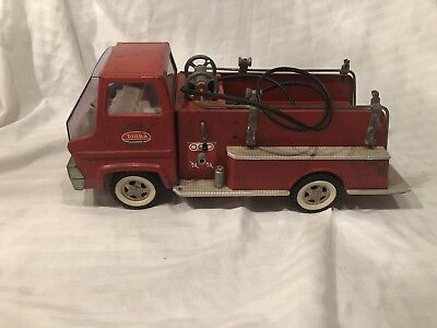 Vintage TONKA No. 926 Pumper Fire Truck Pressed Steel USED 1960s Suburban Toy