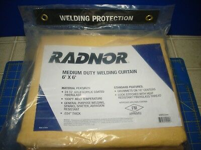 Radnor Medium Duty Welding Curtain  6' X 8'  New In Factory Sealed Plastic Bag