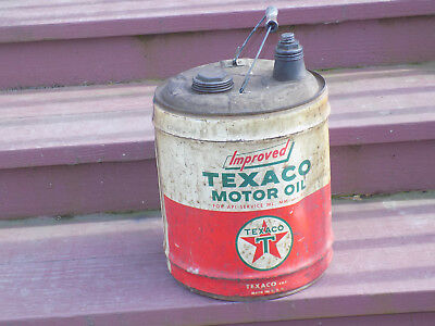 Texaco Motor Oil 5 Gallon Can