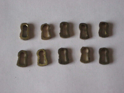 10 Pieces Solid Brass Antique Style Keyhole Liner Insert Escutcheon Key Hole