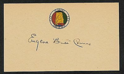 Eugene Bull Connor Autograph Reprint On Genuine Original Period 1960s 3X5 Card