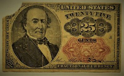 US 25 CENT FRACTIONAL CURRENCY NOTE - 5th ISSUE - FR. 1309 -  -.99c START!!