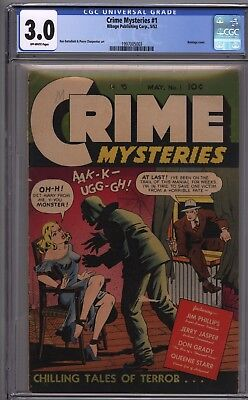 Crime mysteries #1 Bondage Cover Hot Series  CGC 3.0 GD/VG GGA