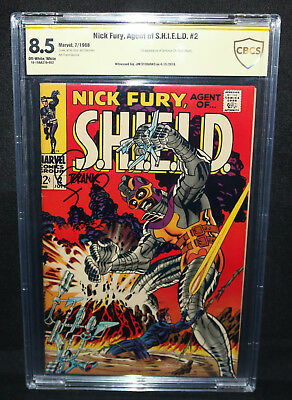 Nick Fury, Agent of S.H.I.E.L.D. #2 - Signed by Jim Steranko - CBCS 8.5 - 1968