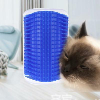Cat Corner Scratching Rubbing Brush Pet Hair Removal Massage Comb Grooming Gift