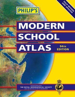 Philip's Modern School Atlas (Philip's School Atlases) by Unstated, Paperback