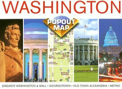 Washington D.C. (USA PopOut Maps) by Compass Maps Sheet map Book The Cheap Fast