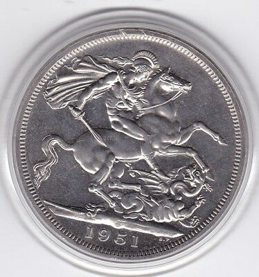 Very  Sharp  1951  King  George  VI  Large Crown / Five Shilling British  Coin