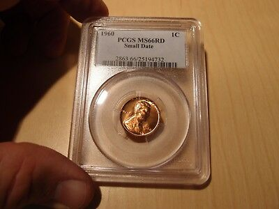 Pcgs 1960 Small Date Ms66 Red Lincoln Cent Blazer No Reserve!!!
