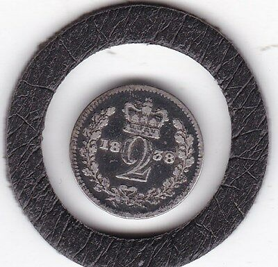 1838   Queen  Victoria  Maundy Two  Pence  (m2d)  Silver (92.5%) Coin
