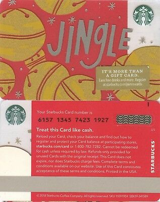 Starbucks 2018 Christmas Holiday Gift Card with | Production Mark New