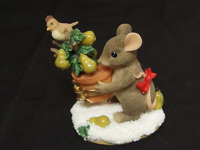 """Fitz and Floyd """"The First Day of Christmas"""" Charming Tails Figurine"""