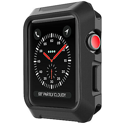 JETech Case for Apple Watch 42mm Series 3 2 Shock-Absorption Protective Cover