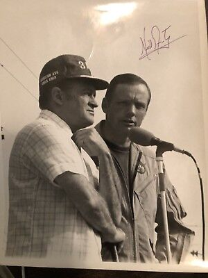 Neil Armstrong signed 8x10 On Stage With Bob Hope 1st Man On The Moon Apollo 11