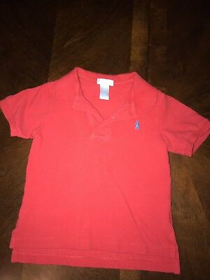 Polo Ralph Lauren Toddler Boys Size 24 Months Red Shirt