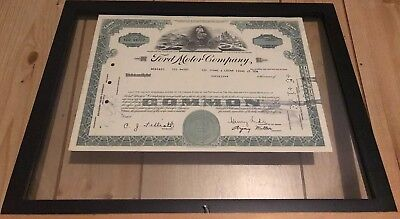 Ford Motor Company Stock Certificate.
