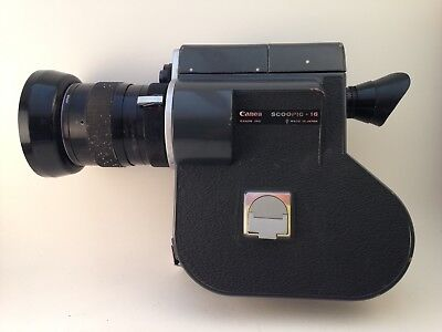 Canon Scoopic 16mm Vintage Movie Film Camera  W Zoom Lens & Case