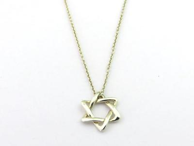 Authentic Tiffany & Co Sterling Silver Star of David Pendant Necklace