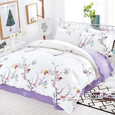 Single/Double/Queen/King/KS 100% Cotton Quilt/Duvet Cover Set-Spring Eva