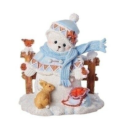 Cherished Teddies Christmas Snowbear Charlotte By Fence New 2018 132074