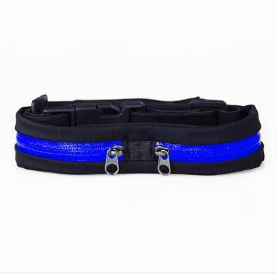 Waterproof Belly Waist Fanny Pack Belt Pouch Fitness Sports Running Bag Blue US