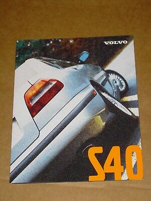 1998 Volvo S40 Sales Brochure Mint! 8 Pages