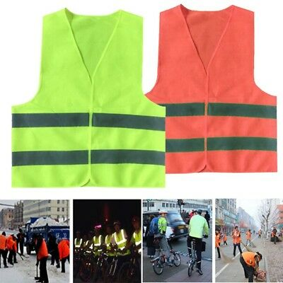 Reflective Stripe Traffic Warning Vest Working Clothes High Visibility Vest