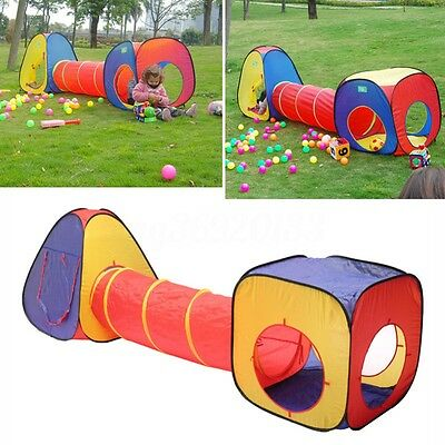 3 In 1 Portable Foldable Children Kids Play Tent Tunnel House Indoor Outdoor