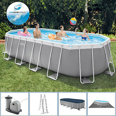 Intex Swimming Pool 610x305x132 Frame Pool Set Prism Oval Schwimmbecken