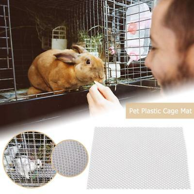 Pet Plastic Mat Hamster Rabbit Cage Grids Holes Anti-slip Feet Easy Cleaning Pad