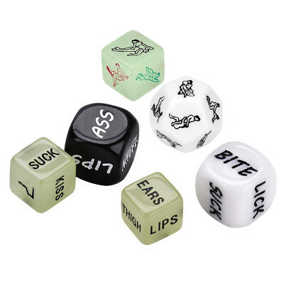 6x Lovers Dice Game! Saucy Adult Fun Naughty Gift Romantic Sex Aid Sex Position