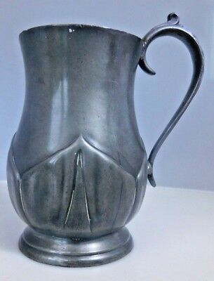 Antique Hand Made, Glass bottomed, Pewter Tankard