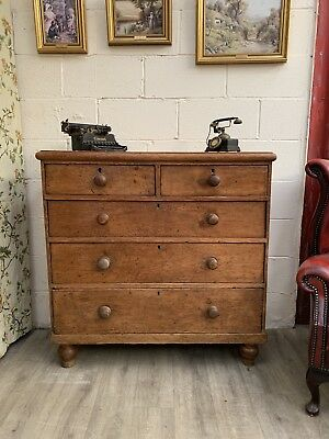 Large Victorian  pine chest of drawers  2 over 3,  ⭐️Delivery Available ⭐