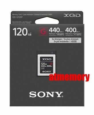 Sony 120GB G Series XQD Memory Card QD-G120F Read: 440MB/s Write: 400MB/s