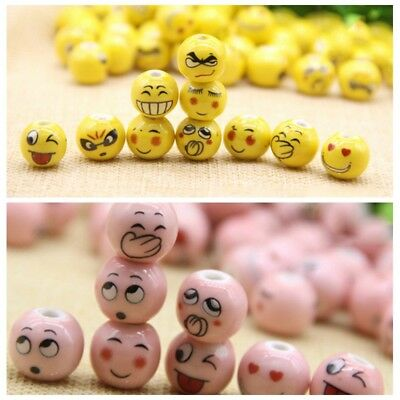 25pcs/lot 14MM Ceramic Colorful Beads Expressions Loose Beads Spacer DIY Jewelry