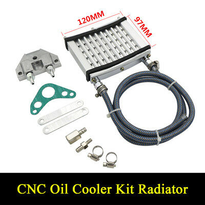 CNC Oil Cooler Kit Radiator For 125cc 140 150cc PIT PRO Trail Dirt Quad Bike ATV