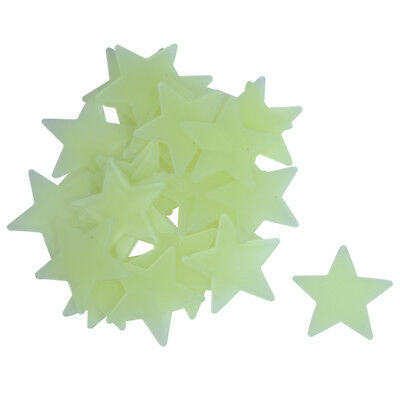 35 x Mini stars phosphorescent Wall Stickers fluorescent Glow musk phosphor S5B5