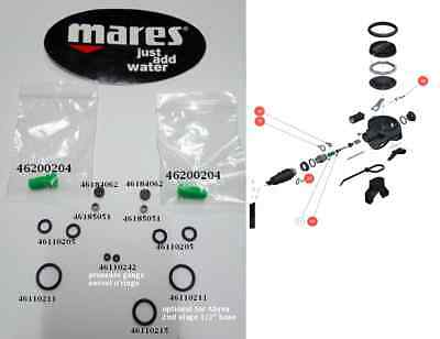 Mares Second Stage Kits ( Two Kits )