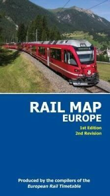 Rail Map of Europe 2017 1st Edition, 2nd Revision 9780992907334