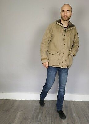Barbour Helmswater Waterproof and Breathable Hooded Jacket Beige Size Large