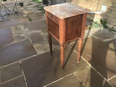 19th Century French Bedside Cabinet with Marble Top