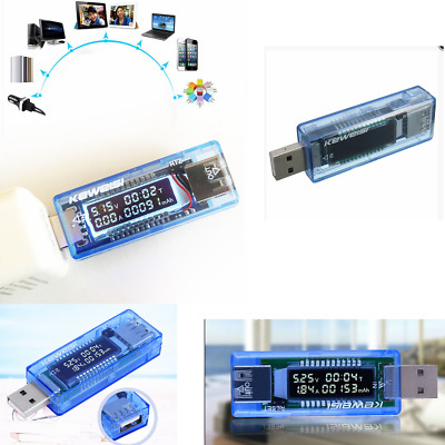 USB LCD Voltage Current Meter Charger Battery Capacity Tester Power For KEWEISI