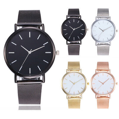 Luxury Women Men Simple Quartz Analog Watch Leather Wrist Watches Couple Gift TK