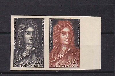france 1955 Sc  740,pair of two ,imperf,proofs in color,MNH,Scarce!     n2249