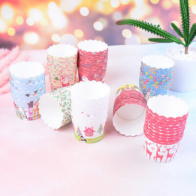 50Pcs Mini Cupcake Liners Paper Cake Baking Cup Muffin Cases Xmas Weeding Gift T